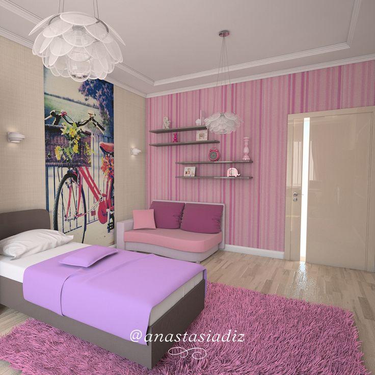 Спальня для девочки легко станет местом, где в стиле сплетаются наше прошлое и настоящее. Спальня девочки самая чувственная, наполненное гармонией комната, поэтому добавив ненавящивый розовый, лиловый, даже сливовый, гармония в помещении будет не менее, чем сам дизайн интерьера! Именно в этой комнате Ваш ребенок чаще всего отдыхает, а мы поможем Вам чувствовать себя в ней спокойно и комфортно! #детская #русскиедизайнеры #инстаграм #стиль #красота #дизайнстудия #дизайнпроект #дизайнквартиры…