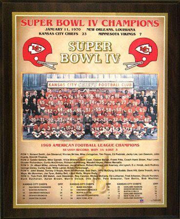 b139e896abd 1969 Kansas City Chiefs Super Bowl Champions Healy Plaque  64.99 ...