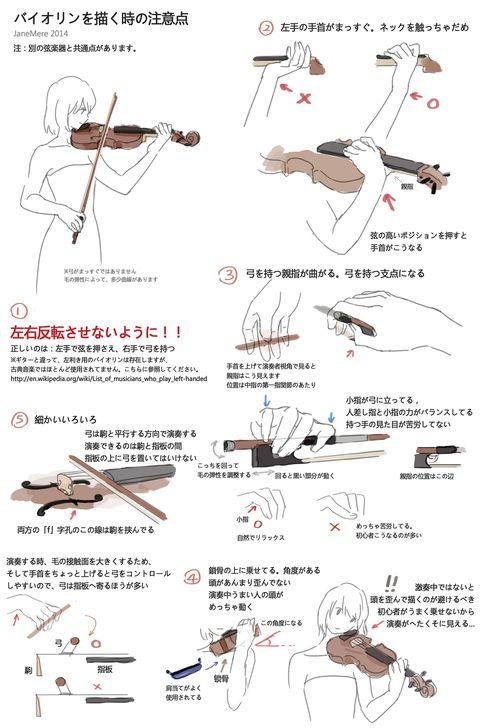 「バイオリンを描く時の注意点」/「JaneMere」のイラスト [pixiv]
