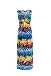 Indigo Knot Front Maxi Dress #summer #summerdress #tribalsportswear #maxidress #dress #fashion #style #summerstyle #indigo