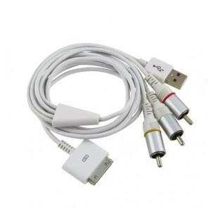 Cablu Audio-Video + USB iPhone / iPad / iPod