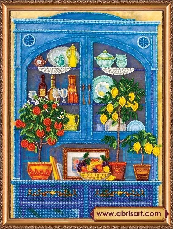 Набор для вышивания бисером Абрис Арт АВ-371 Кухонный буфет