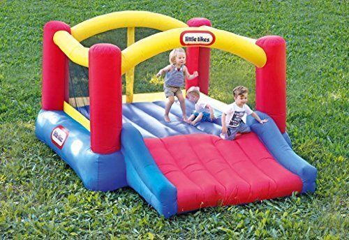 N Bounce Slide Bouncer Little Tikes Inflatable House Outdoor Puncture Resistant. #LittleTikes #Bouncer