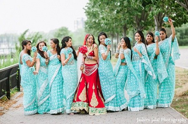 bridal party,bridesmaids,bridemaids outfit,indian bridesmaids,indian bridal party,indian bride,indian groom,indian groomsmen,bridesmaid sari...