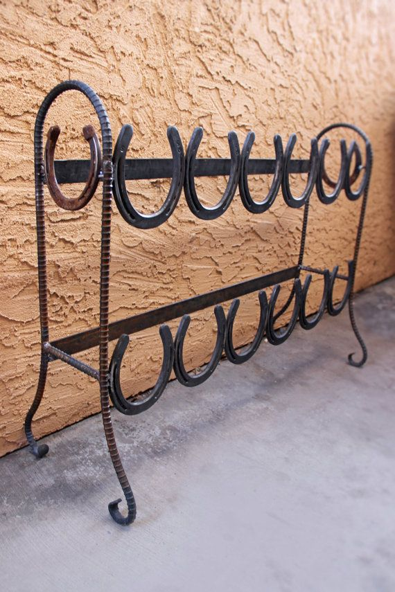 Horseshoe Boot Rack by ASimpleBlacksmith on Etsy