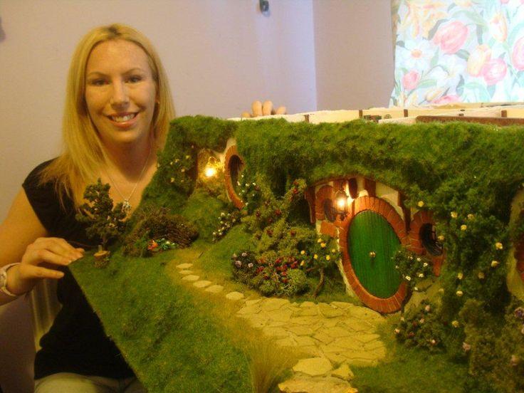 beautiful hobbit hole doll house!