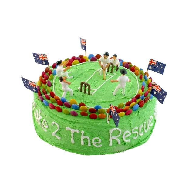 STADIUM CRICKET CAKE KIT $52.95 - This DO IT YOURSELF Cake Kit includes everything you need to bake and decorate this Australian Pride Cake