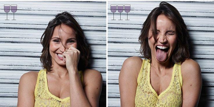 Experiment fotografic: Cum arată omenii după 1, 2, sau 3 pahare de vin