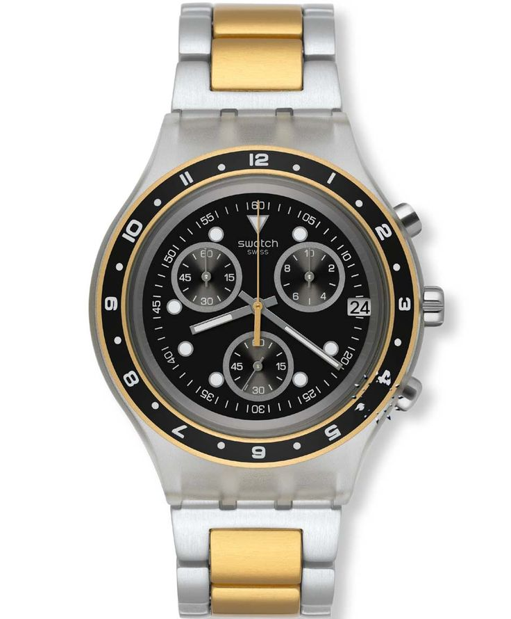 SWATCH Antenor Two-Tone Aluminium Bracelet Τιμή: 130€ http://www.oroloi.gr/product_info.php?products_id=35183