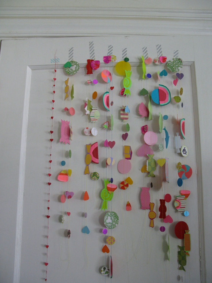candy garland: Real Candy, Candy Garlands, Crafty Things, Coolers, Crafts Inspiration, Shower Curtains, Candy Candy, Candy Land