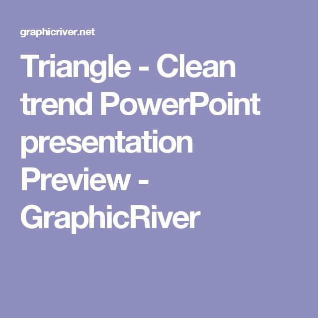 Triangle - Clean trend  PowerPoint presentation Preview - GraphicRiver
