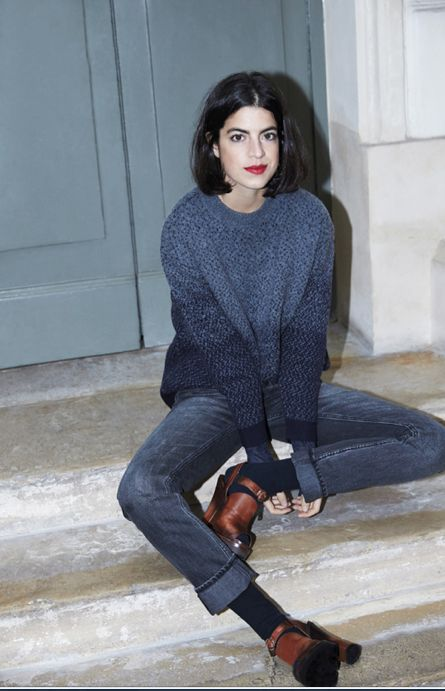 Leandra Medine // that red lipstick though...