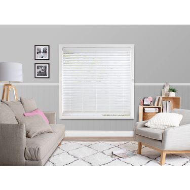 Windowshade 63 mm Faux Wood Venetian Blinds White 150 x 210 cm   Spotlight Australia