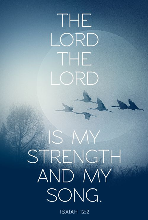 Isaiah 12:2 - strength given from The Lord should be followed immediately by praise