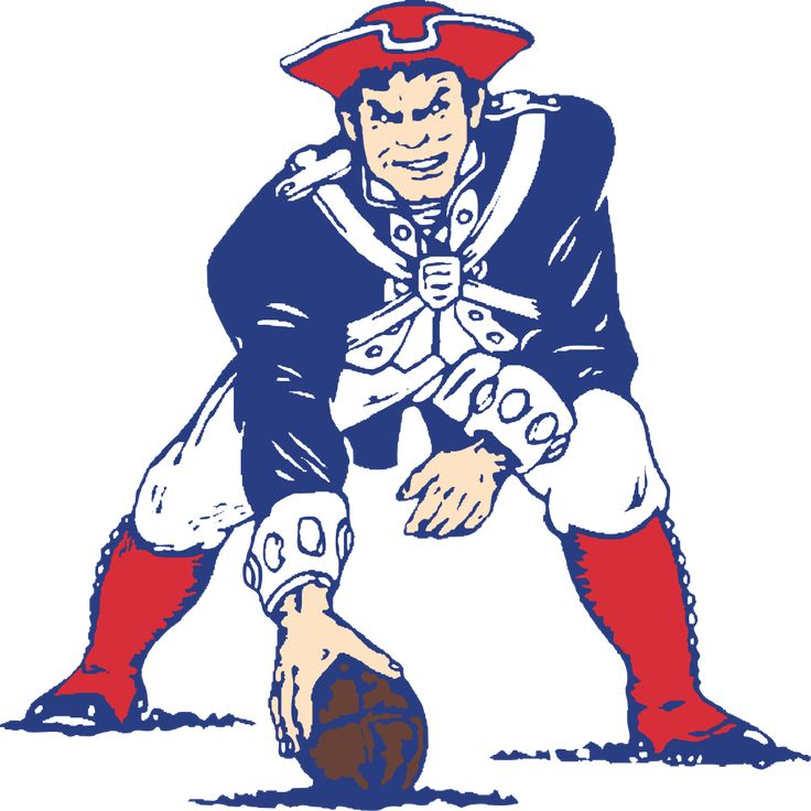 """Pat Patriot"" logo, used through 1992."