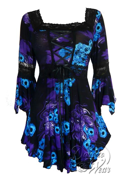 Gothic and Victorian Renaissance plus size corset top in Purple Potion
