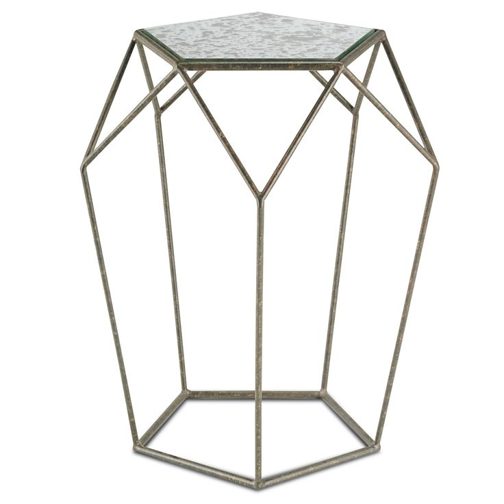 Mirror Top Axiom Side Table   Belle Escape