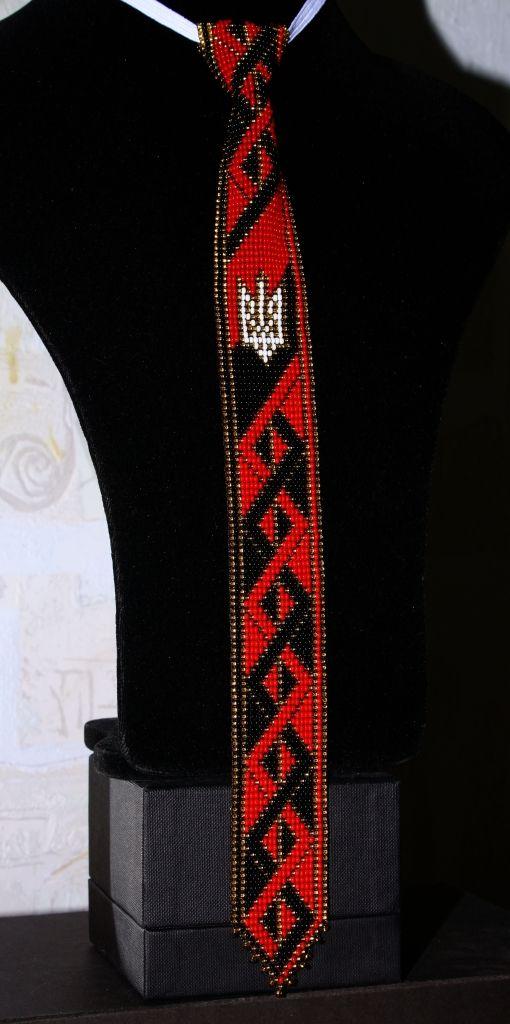 Галстук № 2, № 5, + браслет. | biser.info - всё о бисере и бисерном творчестве