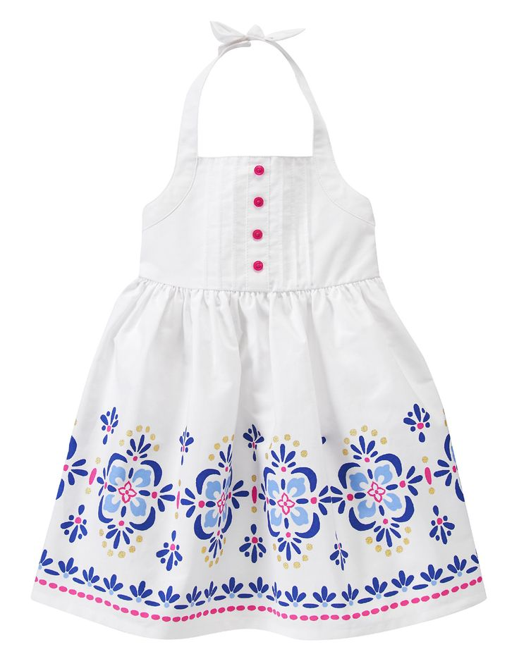 Floral Medallion Halter Dress Gymboree Brighton