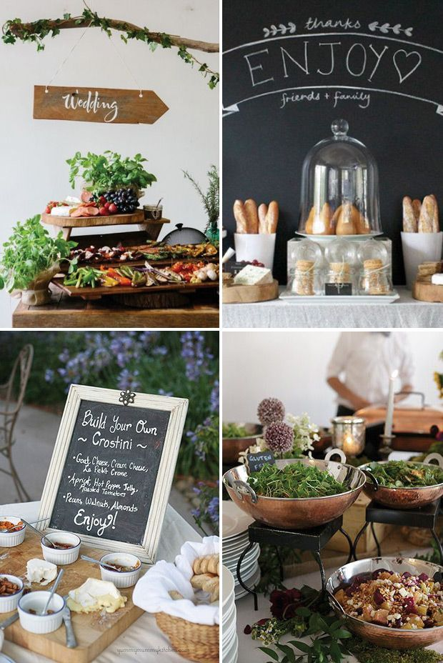 25 best ideas about wedding food tables on pinterest rehearsal dinner catering country. Black Bedroom Furniture Sets. Home Design Ideas