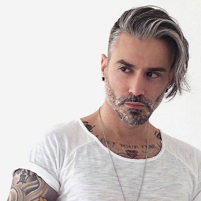 Coloration cheveux gris pour homme