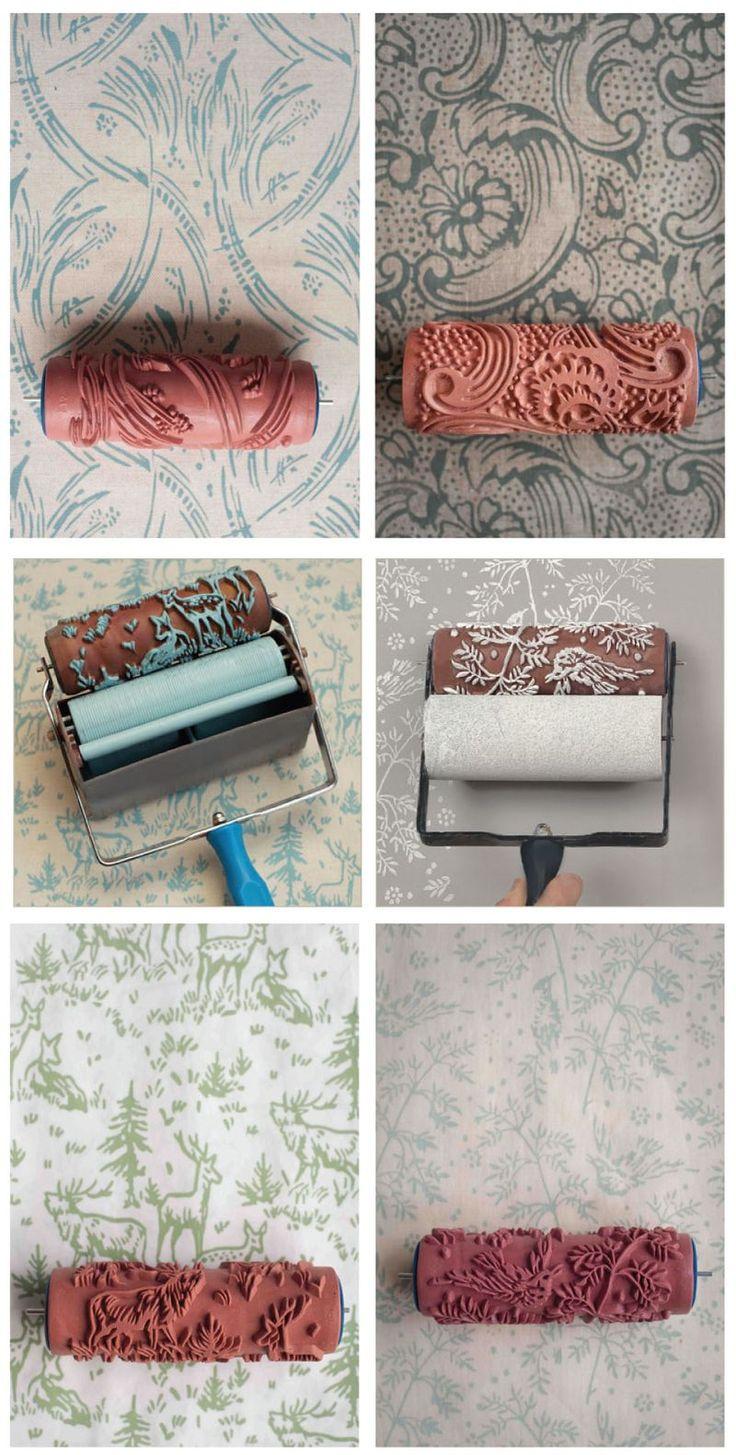 Hoy os presento un rodillo para pintar con textura. Consiste en un rodillo tallado con diferentes motivos con el que puedes decorar tus pare...