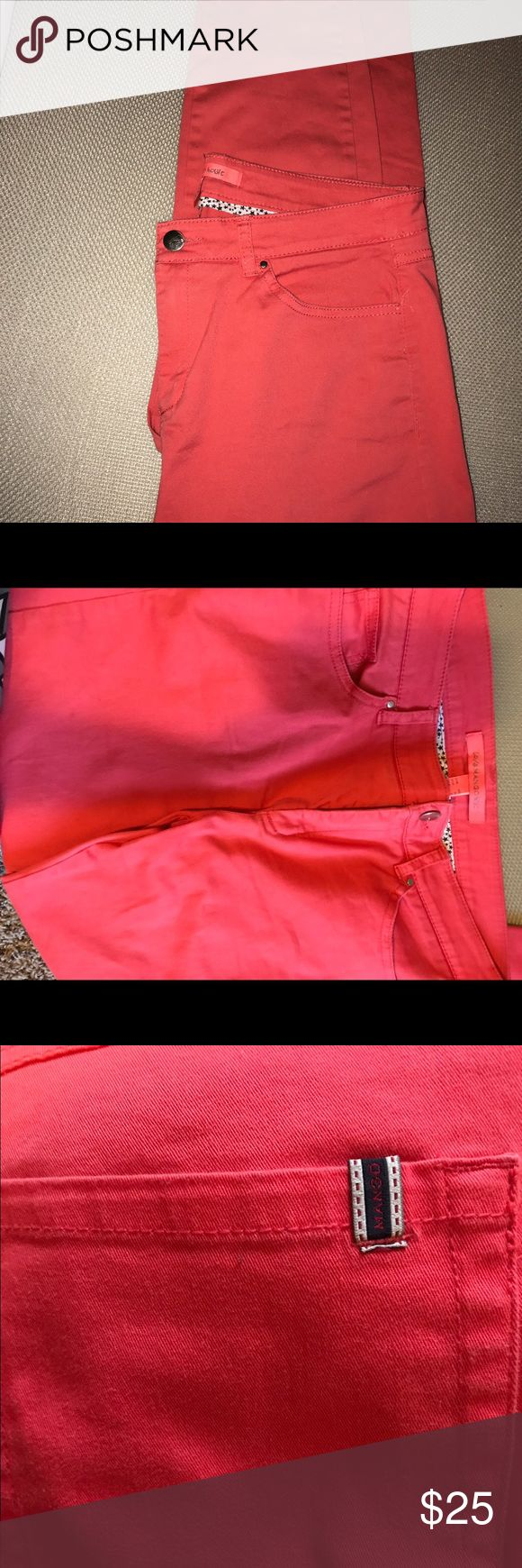 Mango orange summer jeans size 8 Light Used and in great condition , orange summer jeans. Size 8 Mango Jeans Skinny