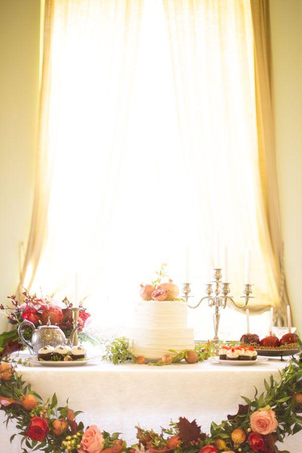Matrimonio autunnale con melograni