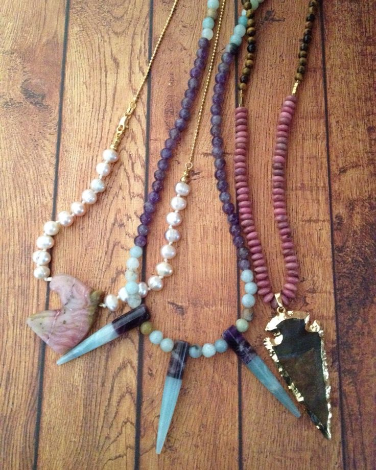 Pearls|Amethyst|Amazonite|rhodonite|Tigerseye Check us out on Facebook Quartz+Love