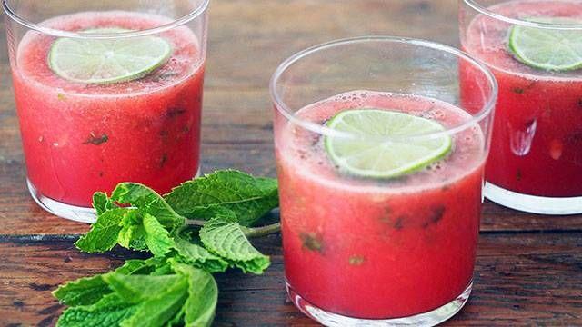 Fresh Watermelon, Chia Seeds, Mint Detox Juice
