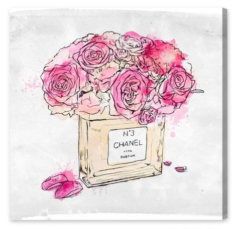 Flower Scent: Stop and smell the roses! Decorate you wall with ultra cute feminine art piece hand-signed by the artist!
