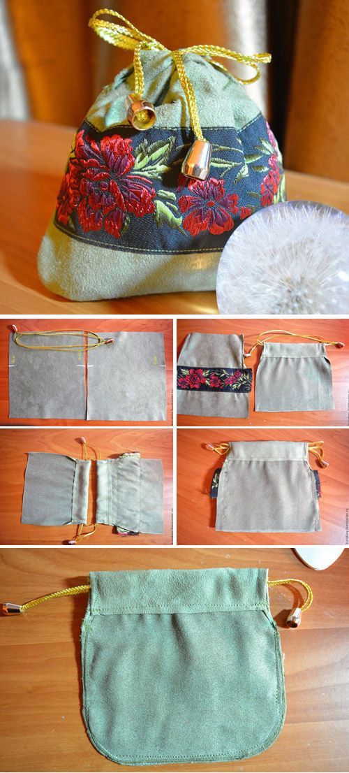Gift Pouch with a Drawstring Tutorial   http://www.free-tutorial.net/2017/04/cute-gift-pouch-with-drawstring.html
