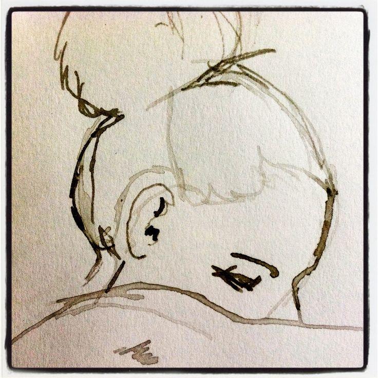Croquis à l'encre. Ink sketch