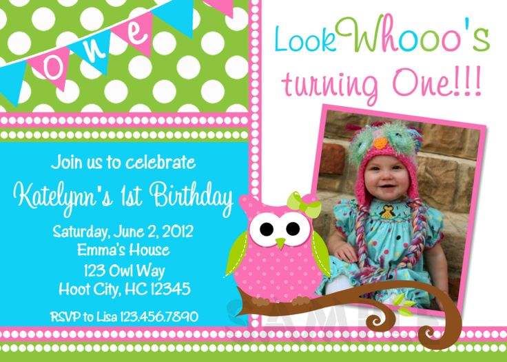 owl birthday invitation pink and green owl birthday party invitation printable