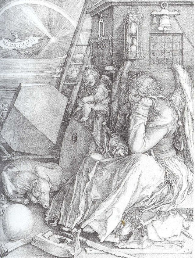 Albrecht Dürer (1471-1528), Melancholia I, 1514, copper print, 31 x 26 cm, courtesy of the National Museum in Gdańsk This work of Albrecht Durer (an identical print found itself in the Albertin Gallery in Vienna) belonged to the Jacob Kabrun collection, later part of the Urban Museum of Gdańsk. It was confiscated by the Red Army.