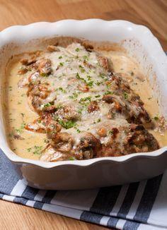 Populair: ovenschotel met kip en champignonroomsaus