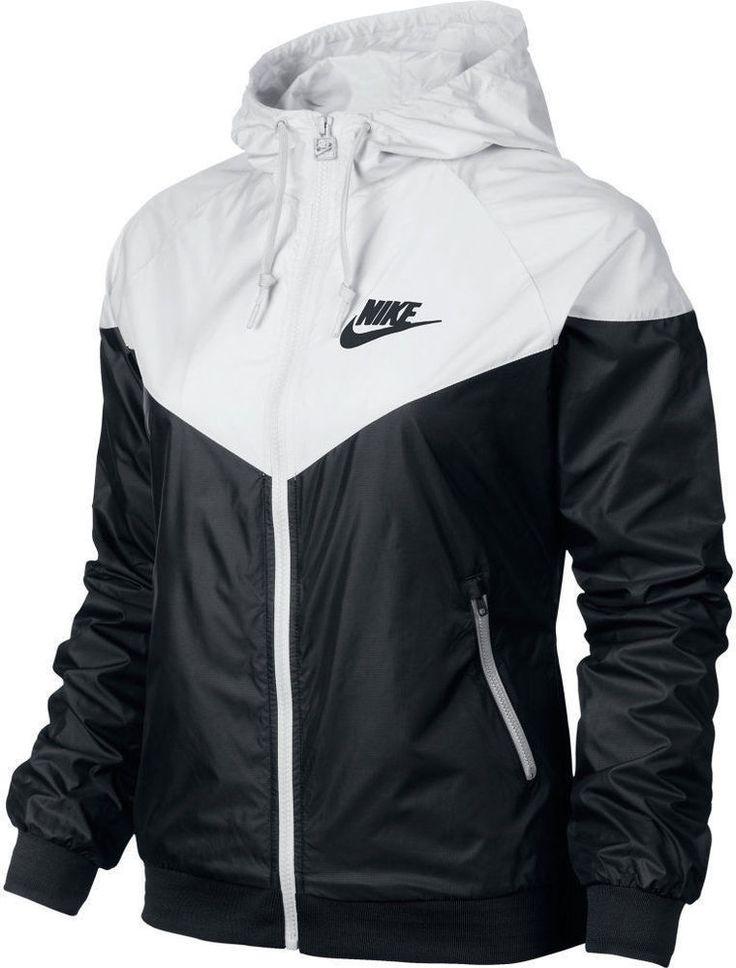 Nike WindRunner Jacket Windbreaker Hoodie Black White Women's545909-011 #Nike #Windrunner
