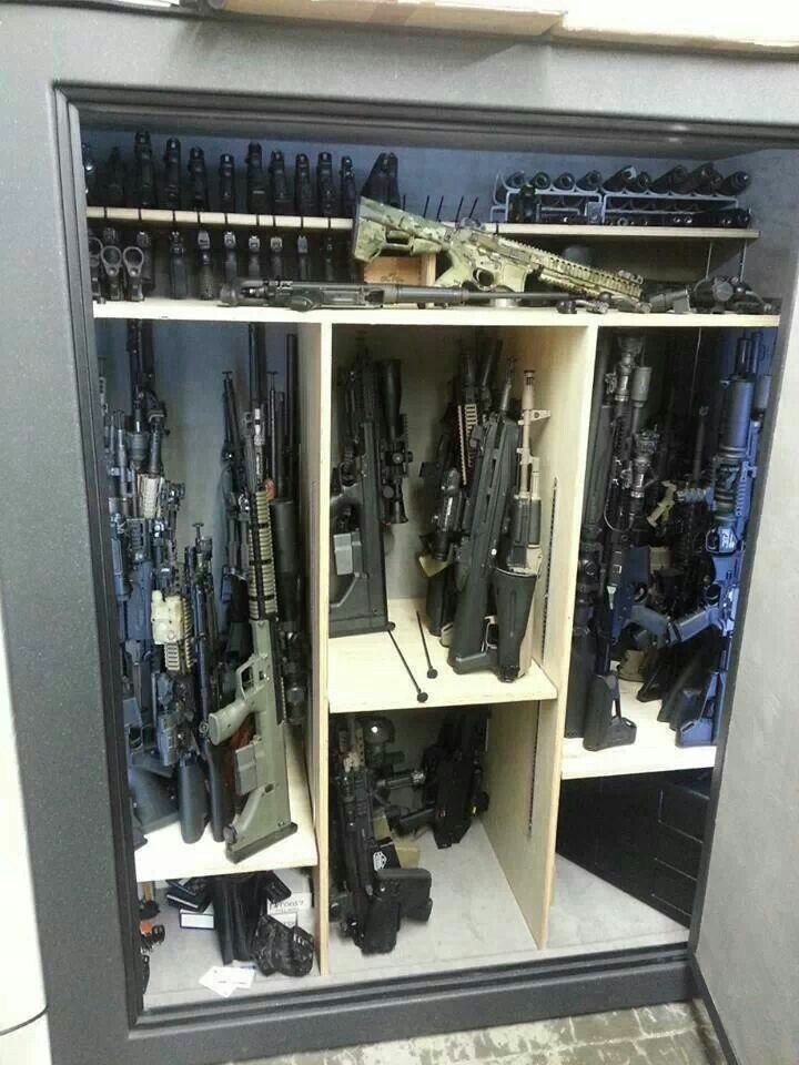 Custom Gun Safe. Because the small metal ones they sell in the store..... just don't cut it.