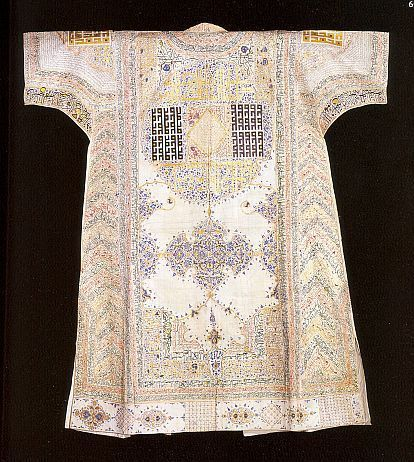 76945-costume-research-and-more: A 15th century Talismanic under Tunic, or Shirt At the Topkapi Saray Museum, Istanbul-Turkey Source Cloth,