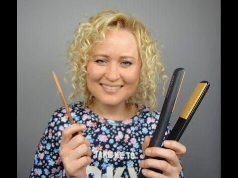 Hairtutorial : Krullen maken met een potlood en stijltang  ||  Making curl with a pencil and straightener!  www.dazzling-beauty.nl