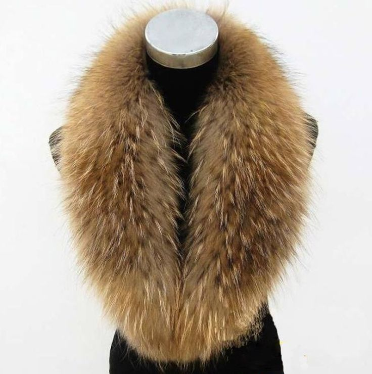 >> Click to Buy << women men winter luxury casual natrue color all-match Raccoon fur collar shawl  #Affiliate