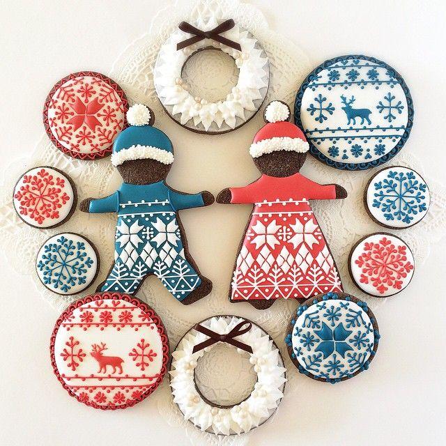 Nordic Pattern Cookies
