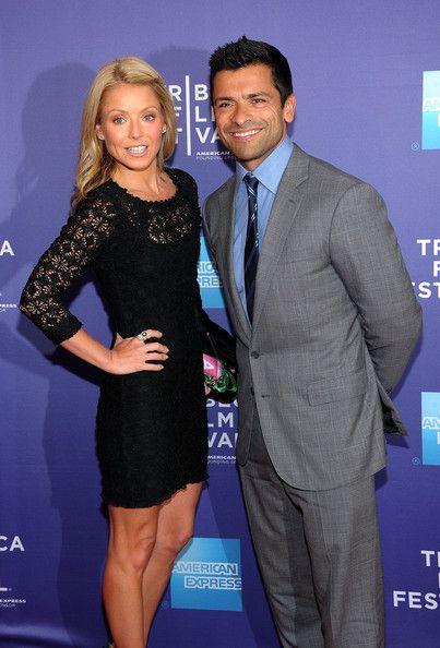 "Kelly Ripa and Mark Consuelos Photos Photos - (L-R) TV personality Kelly Ripa and athlete Mark Consuelos attend the premiere of ""Off the Rez"" during the 2011 Tribeca Film Festival at SVA Theater on April 26, 2011 in New York City. - Premiere Of ""Off The Rez"" At The 2011 Tribeca Film Festival"