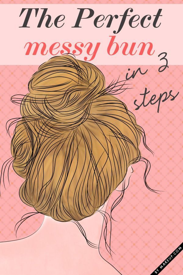 Girls, this seriously works!!! If you have long hair, 3 sections works best. I also tucked in the ends of the first   two sections into my ponytail holder, and pinned the last one around all of   them. Perfect!!!