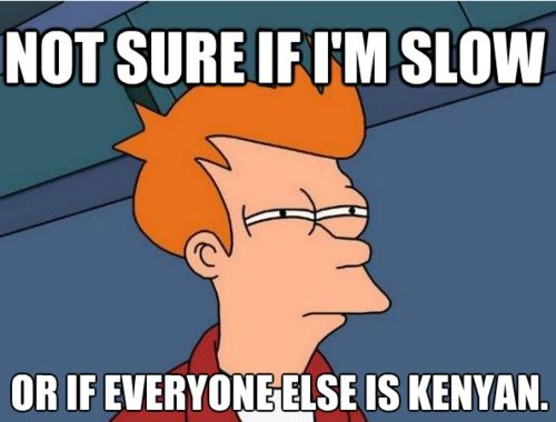 Hilarious running memes for people who love and hate running!  #imslow