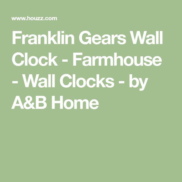 Franklin Gears Wall Clock - Farmhouse - Wall Clocks - by A&B Home