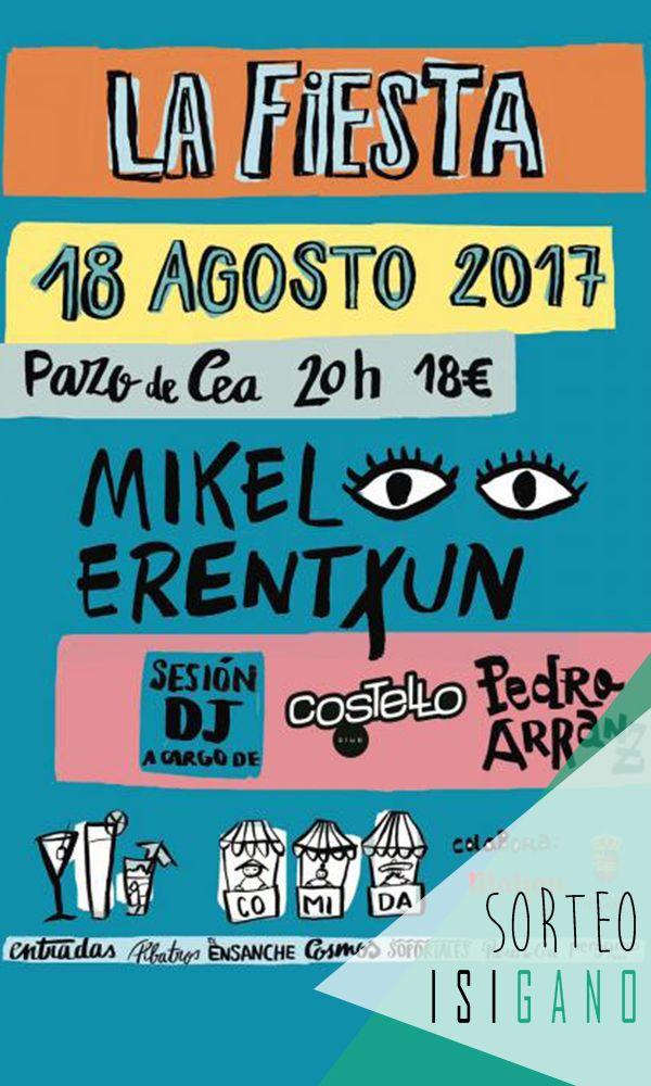 Pazo de Cea quiere premiaros con 2 entradas para su conciertazo de Mikel Erentxun que tendrá lugar el viernes 18 de agosto, valoradas en 36€, la compañía la pones tú! #sorteo #gratis #sorteosgratis #sorteosgalicia #Galicia #suerte #luck #goodluck #premio #free #regalo #concurso #concierto #PazodeCea #Nigrán #Pontevedra #MikelErentxun