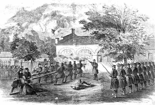 John Brown's raid on Harper's Ferry. Harper's Weekly illustration from 1859.  #civilwar #johnbrown