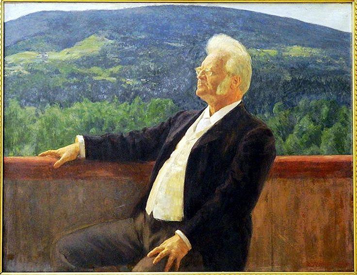 Werenskiold, Erik (1855-1936) - Portrait of Bjornstjerne Bjornson (State Art Museum, Copenhagen, Denmark)