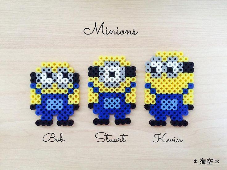 Minions perler beads by kaisora0_0